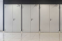 Τρεις διπλές πόρτες Στοκ Εικόνα