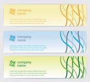 Τρεις κάρτες πρόσκλησης με τις γραμμές στην ανασκόπηση Στοκ Εικόνα