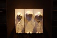 Τρεις Κινέζος με τα κακόβουλα χαμόγελα στο πάρκο Hyatt Σαγκάη Κίνα Στοκ φωτογραφία με δικαίωμα ελεύθερης χρήσης
