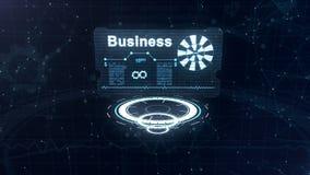 Τρεις κινούμενοι κύκλοι είναι στην εστίαση, κατόπιν η αφηρημένη επαγγελματική κάρτα με ένα σημάδι της περιτυλγμένος ρόδας και κάπ ελεύθερη απεικόνιση δικαιώματος