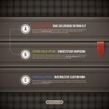 Τρεις κομψές επιλογές στο σκοτεινό υπόβαθρο Χρήσιμος για το σχέδιο ή τη διαφήμιση Ιστού EPS10 Στοκ φωτογραφία με δικαίωμα ελεύθερης χρήσης