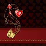 Τρεις κόκκινες καρδιές διαμαντιών Στοκ φωτογραφία με δικαίωμα ελεύθερης χρήσης