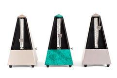 Τρεις μετρονόμοι πυραμίδων Στοκ Εικόνα