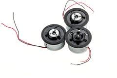 Τρεις μικρές ηλεκτρικές μηχανές Στοκ Εικόνες