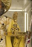 Τρεις μικρές τσάντες του Άγιου Βασίλη Στοκ εικόνες με δικαίωμα ελεύθερης χρήσης