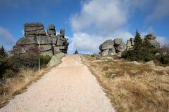 Τρεις μικροί βράχοι χοιριδίων σε Karkonosze Στοκ εικόνα με δικαίωμα ελεύθερης χρήσης