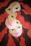 Τρεις νεράιδες από τα όνειρά μου Αρχική ζωγραφική watercolor απεικόνιση αποθεμάτων