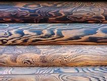 Τρεις ξύλινες καφετιές σανίδες στοκ εικόνα