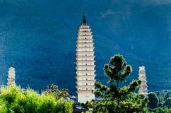 Τρεις παγόδες του ναού Chongsheng Στοκ φωτογραφία με δικαίωμα ελεύθερης χρήσης