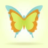Τρεις πεταλούδες με τα εκλεκτής ποιότητας χρώματα Στοκ φωτογραφίες με δικαίωμα ελεύθερης χρήσης