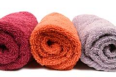 τρεις πετσέτες Στοκ Εικόνες