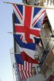 Τρεις σημαίες στοκ φωτογραφίες