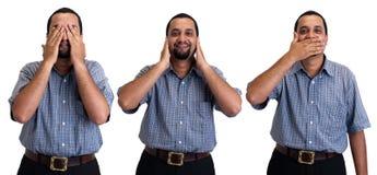 Τρεις σοφοί ανώτεροι υπάλληλοι στοκ φωτογραφία