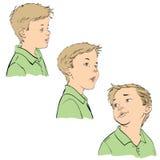 Τρεις συγκινήσεις του αγοριού Στοκ Εικόνα
