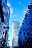Τρεις σύγχρονοι πύργοι γραφείων γυαλιού στο Canary Wharf, το Docklands, Στοκ φωτογραφίες με δικαίωμα ελεύθερης χρήσης