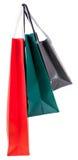 Τρεις τσάντες αγορών εγγράφου Στοκ εικόνα με δικαίωμα ελεύθερης χρήσης