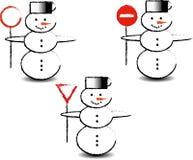 Τρεις χιονάνθρωποι Στοκ Εικόνα