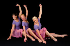 Τρεις χορευτές μπαλέτου Στοκ Εικόνες