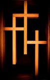 Τρεις χριστιανικοί σταυροί στοκ φωτογραφίες με δικαίωμα ελεύθερης χρήσης