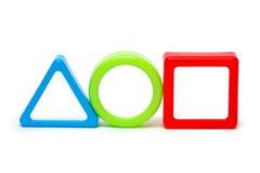 Τρεις χρωματισμένες γεωμετρικές μορφές Στοκ Φωτογραφία