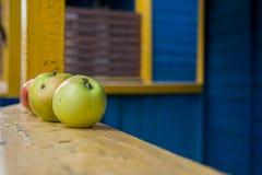 Τρεις Apple σε μια σειρά Στοκ Εικόνες