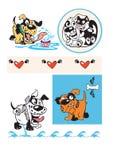 τρελλά σκυλιά Στοκ φωτογραφίες με δικαίωμα ελεύθερης χρήσης