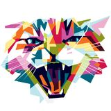 Τρελλή γάτα Colorfully Στοκ Φωτογραφίες