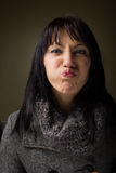 τρελλή γυναίκα Στοκ Εικόνες