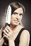 τρελλή επικίνδυνη γυναίκ& Στοκ Φωτογραφία