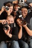 τρελλοί φωτογράφοι Στοκ εικόνα με δικαίωμα ελεύθερης χρήσης