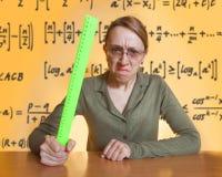 τρελλός θηλυκός δάσκαλ&o Στοκ Εικόνες