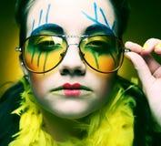 Τρελλός στενός επάνω κοριτσιών Στοκ εικόνες με δικαίωμα ελεύθερης χρήσης