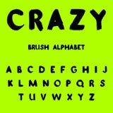 Τρελλός Χρωματισμένο βούρτσα αλφάβητο ελεύθερη απεικόνιση δικαιώματος