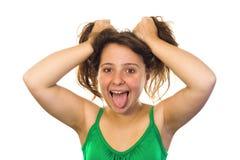 τρελλό κορίτσι Στοκ εικόνες με δικαίωμα ελεύθερης χρήσης