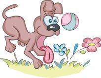 τρελλό παιχνίδι σκυλιών σ&p διανυσματική απεικόνιση