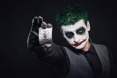 Τρελλό πρόσωπο πλακατζών αποκριές Στοκ φωτογραφίες με δικαίωμα ελεύθερης χρήσης