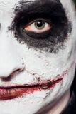 Τρελλό πρόσωπο πλακατζών αποκριές Στοκ Εικόνα