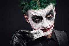 Τρελλό πρόσωπο πλακατζών αποκριές Στοκ Εικόνες
