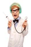 τρελλό nerd γιατρών στοκ εικόνα