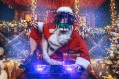 Τρελλό santa του DJ στοκ φωτογραφίες
