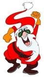 τρελλό santa Claus Στοκ εικόνες με δικαίωμα ελεύθερης χρήσης