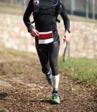 Τρεξίματα ατόμων με sportwear Στοκ φωτογραφία με δικαίωμα ελεύθερης χρήσης