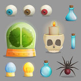 Τρελλά εργαστηριακά στοιχεία καθηγητή για το σχέδιο παιχνιδιών απεικόνιση αποθεμάτων