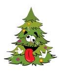 Τρελλά κινούμενα σχέδια χριστουγεννιάτικων δέντρων διανυσματική απεικόνιση