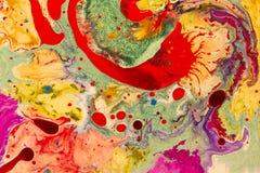 Τρελλά χρώματα Μορφές και μορφές Υγρή τέχνη Στοκ εικόνα με δικαίωμα ελεύθερης χρήσης