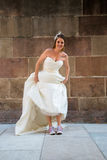 Τρελλή νύφη σε έναν βλαστό φωτογραφιών στοκ φωτογραφία με δικαίωμα ελεύθερης χρήσης