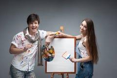Τρελλοί ζωγράφοι Στοκ Εικόνες