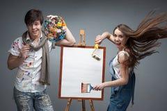 Τρελλοί ζωγράφοι Στοκ εικόνα με δικαίωμα ελεύθερης χρήσης
