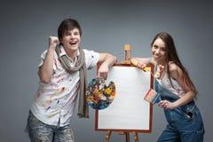 Τρελλοί ζωγράφοι Στοκ εικόνες με δικαίωμα ελεύθερης χρήσης