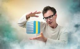 Τρελλοί καθηγητής και συσκευή Στοκ Εικόνα